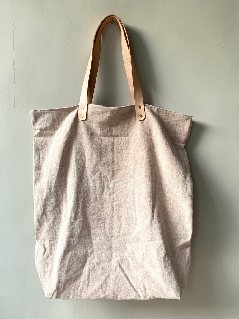 BESAR [big] - stonewashed oversize canvas bag