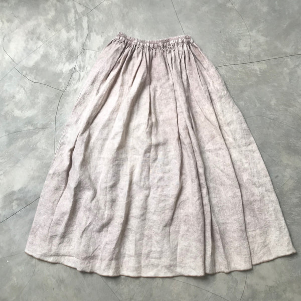 MAWAR [rose] - hand dyed linen skirt