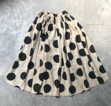 MAWAR [rose] - handprinted and stonewashed linen skirt