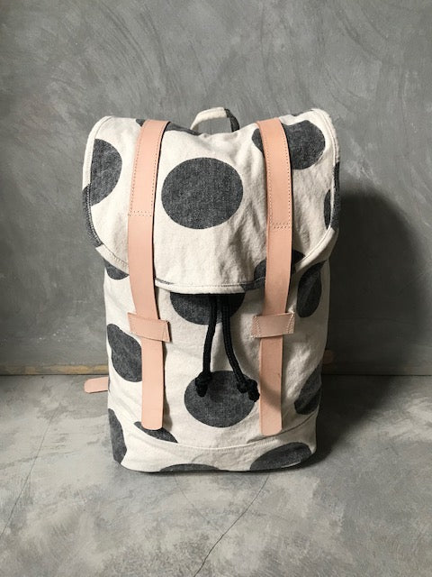 NANAS [pineapple] - stonewashed canvas backpack