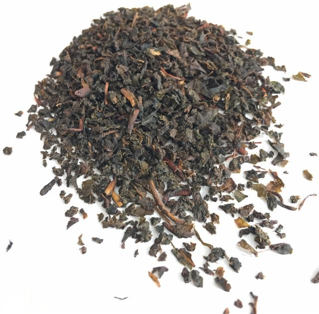 Ceylon Uva BOP. Unusually for us, this is a broken leaf tea (Broken Orange Pekoe). It was was bought as it so distinctly demonstrates the characteristic taste of an Uva tea, with medicinal notes of deep heat.