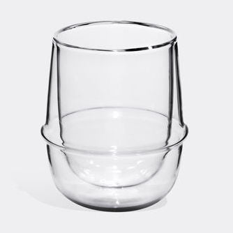 Kinto Kronos Double-Walled Glass Cup, 250ml