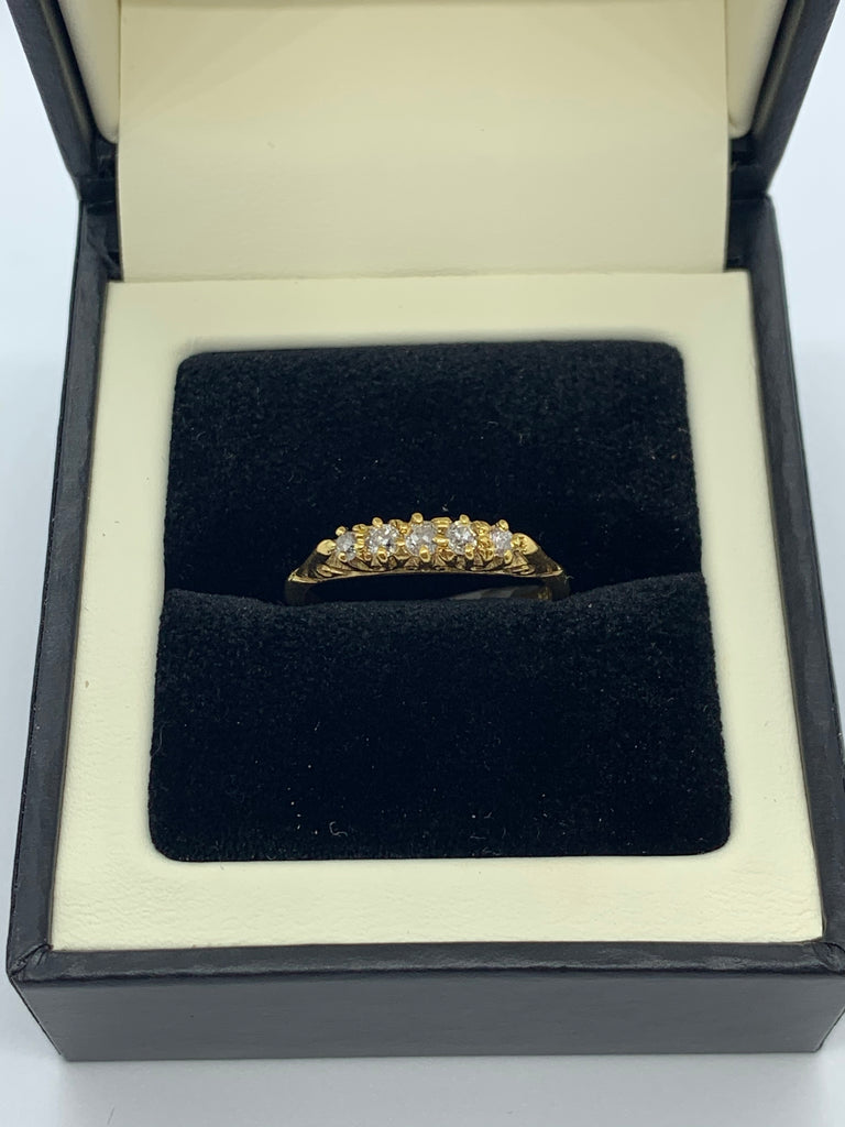 18ct five stone Diamond ring