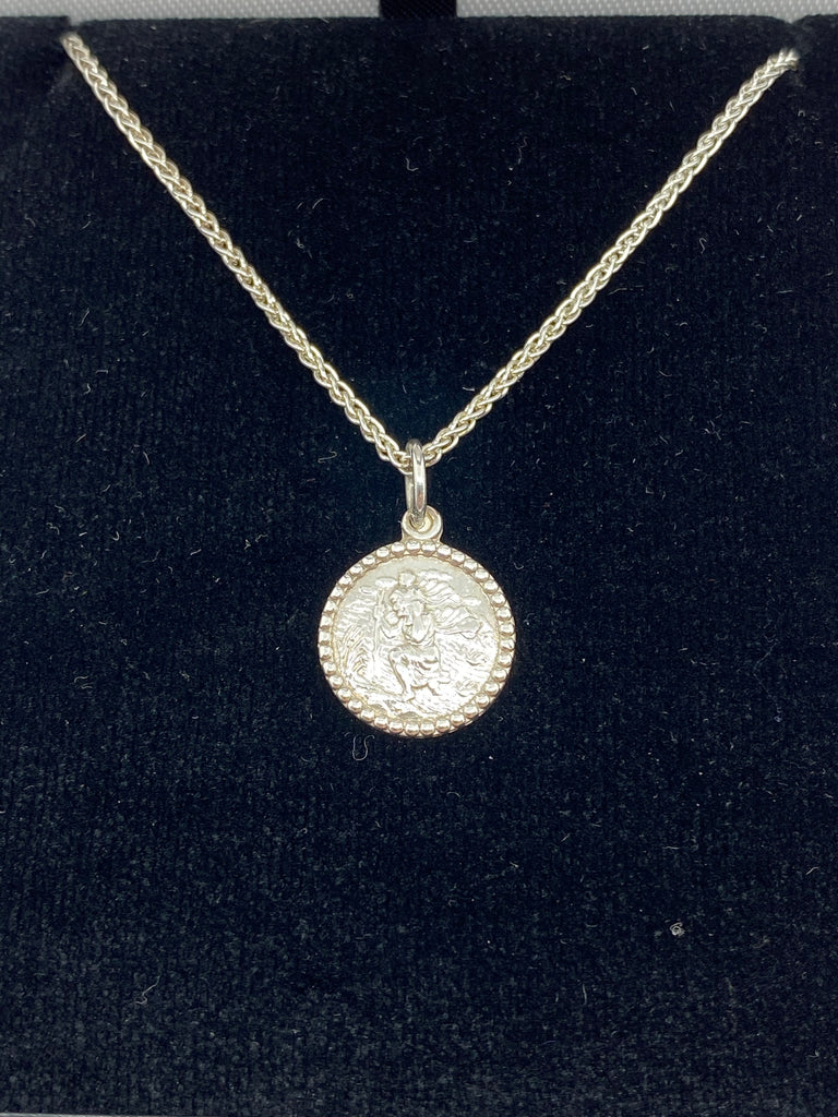 Sterling silver St Christopher and chain