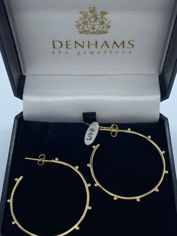 9ct gold plated silver hoops