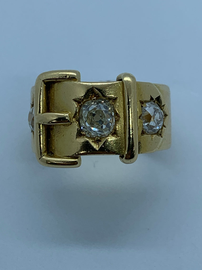 18ct Diamond set buckle ring