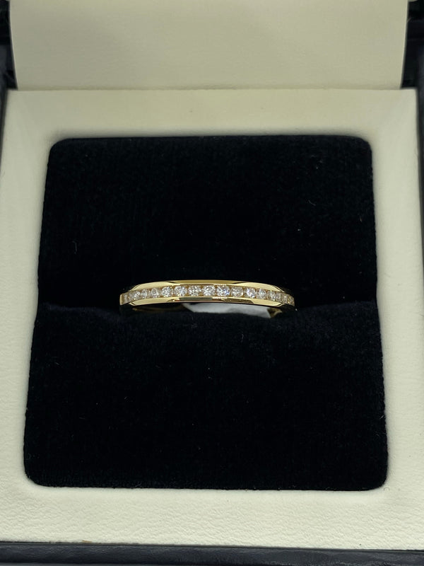 18ct yellow eternity ring