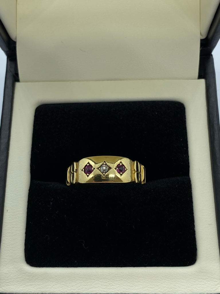 15ct Ruby and diamond ring