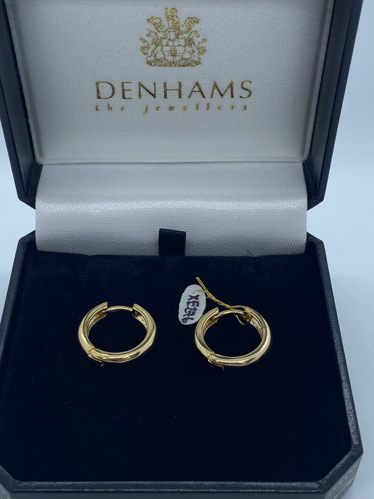 Small 9ct gold plated silver hoops