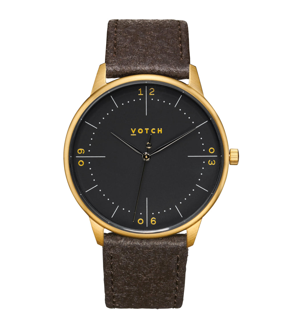 Gold & Dark Brown Piñatex with Black | Aalto