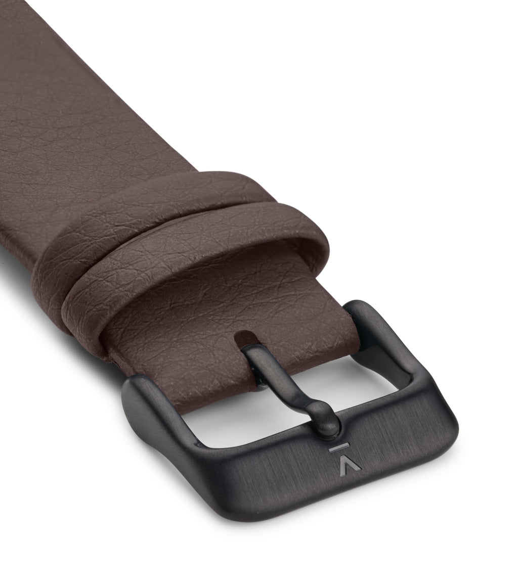 BROWN WITH BRUSHED BLACK BUCKLE | 20MM