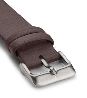 BROWN WITH BRUSHED SILVER BUCKLE | 20MM