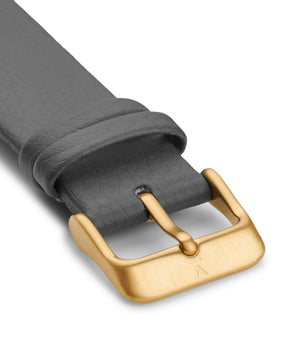 SLATE GREY WITH BRUSHED GOLD BUCKLE | 20MM