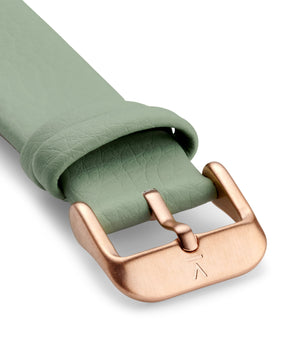 SAGE WITH BRUSHED ROSE GOLD BUCKLE | 18MM