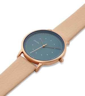 Rose gold & Sepia with Blue  | Lyka