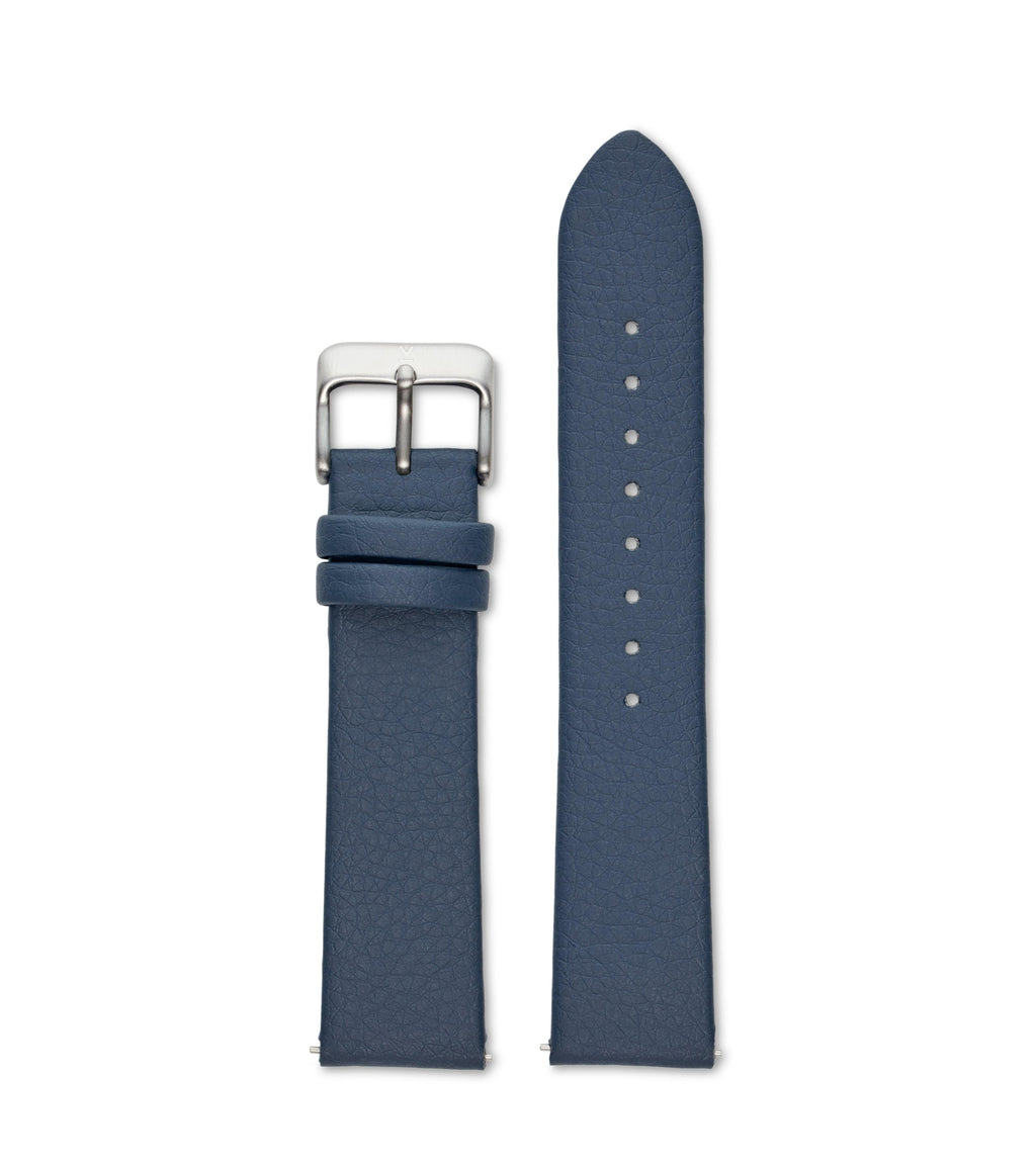 NAVY WITH BRUSHED SILVER BUCKLE | 20MM