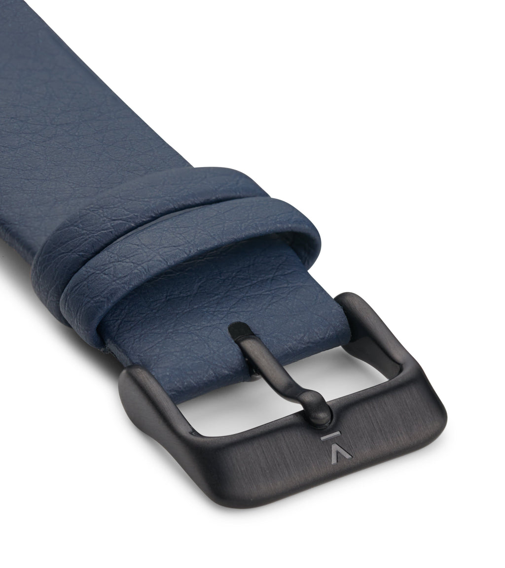 NAVY WITH BRUSHED BLACK BUCKLE | 20MM