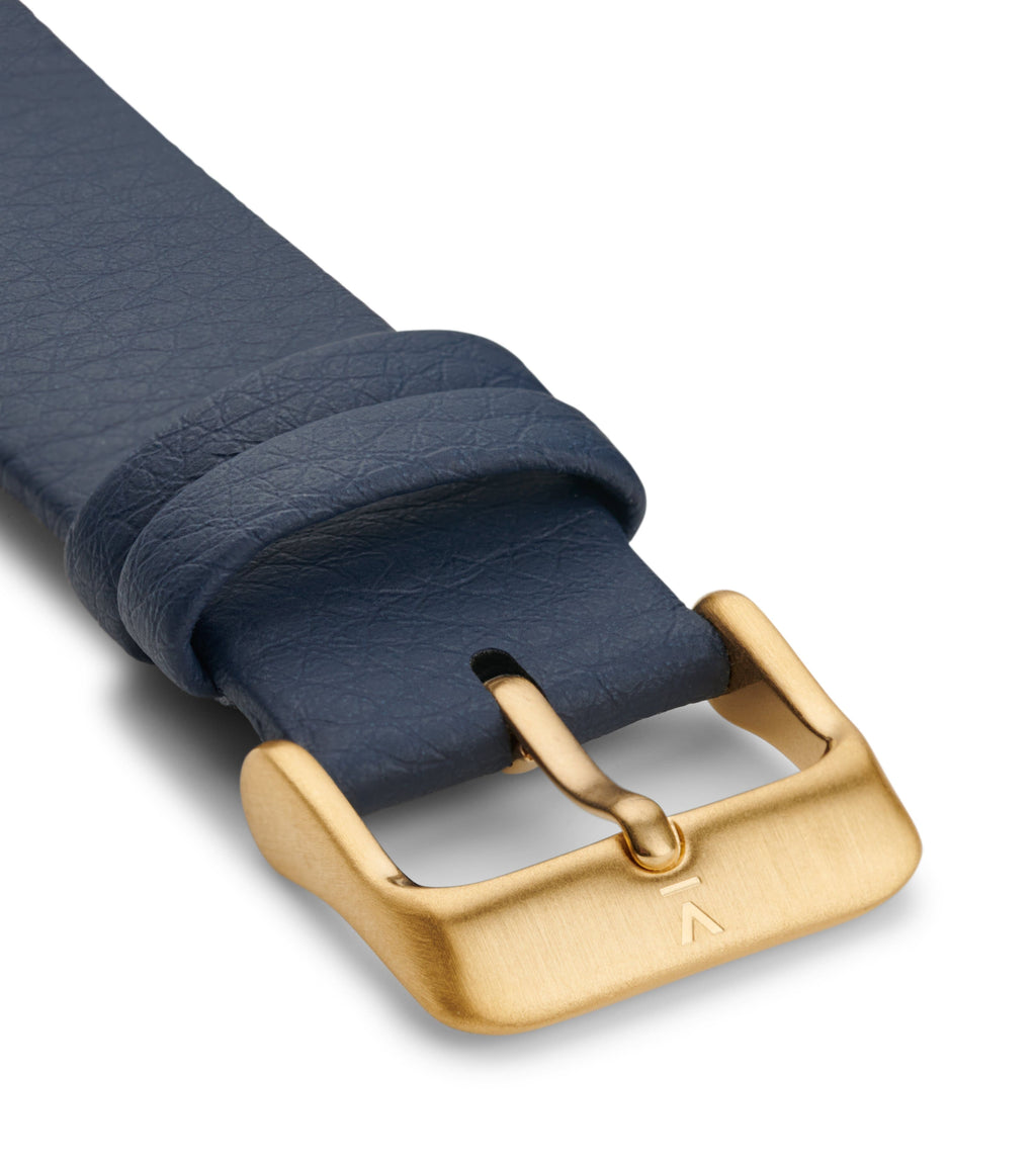 NAVY WITH BRUSHED GOLD BUCKLE | 20MM