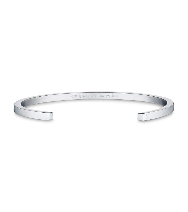 Silver Bangle with Silver & Light Grey Petite Watch