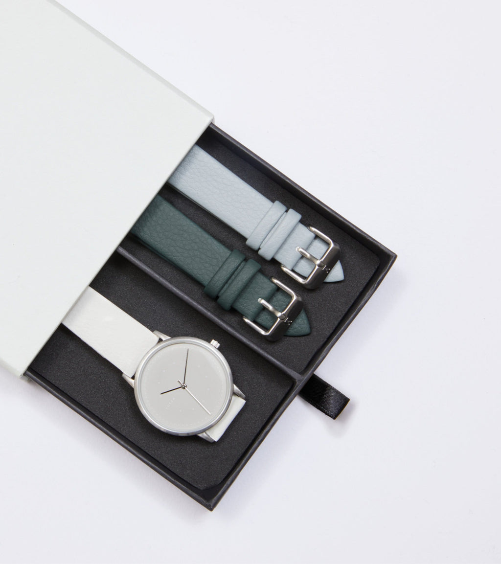 Silver & Off White with Grey | Lyka Gift Set