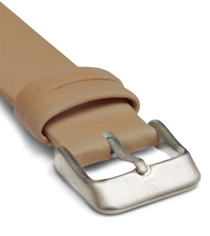 Tan with brushed silver buckle | 18mm