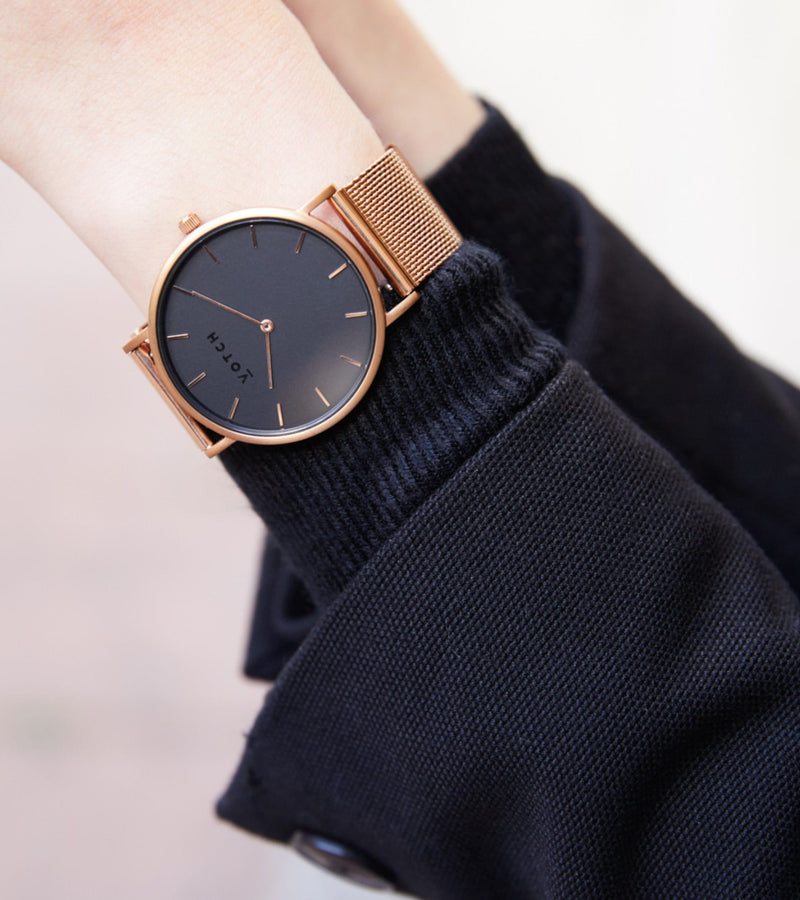 Rose Gold & Rose Gold with Black | Mesh Classic