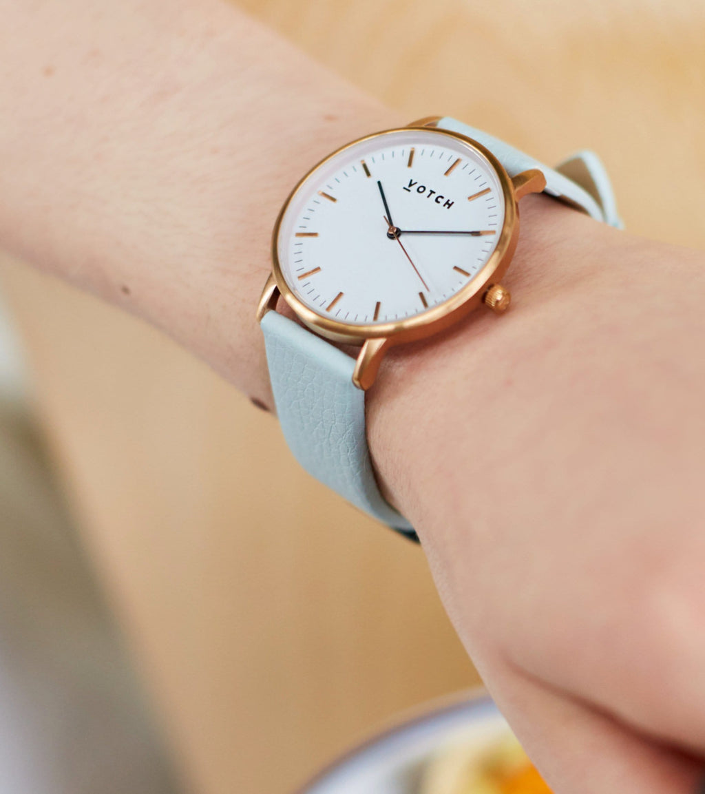 Rose Gold & Light Blue | Moment