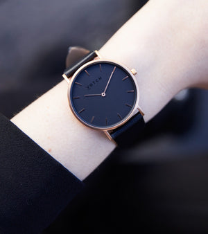 Rose Gold & Black with Black | Classic