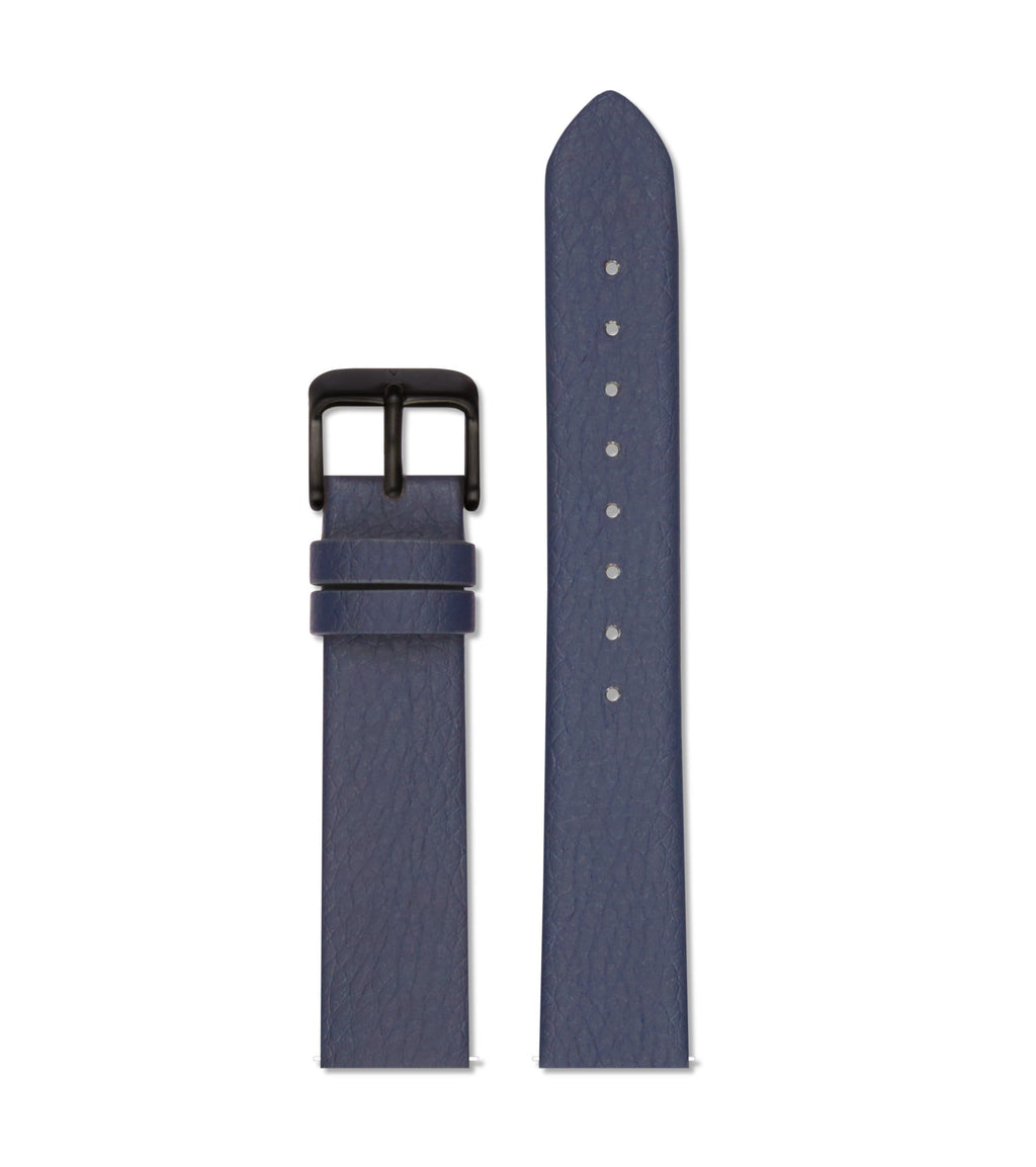Navy with brushed black buckle | 18mm