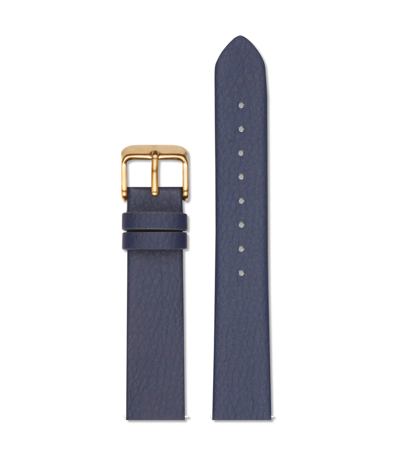 Navy with brushed gold buckle | 18mm