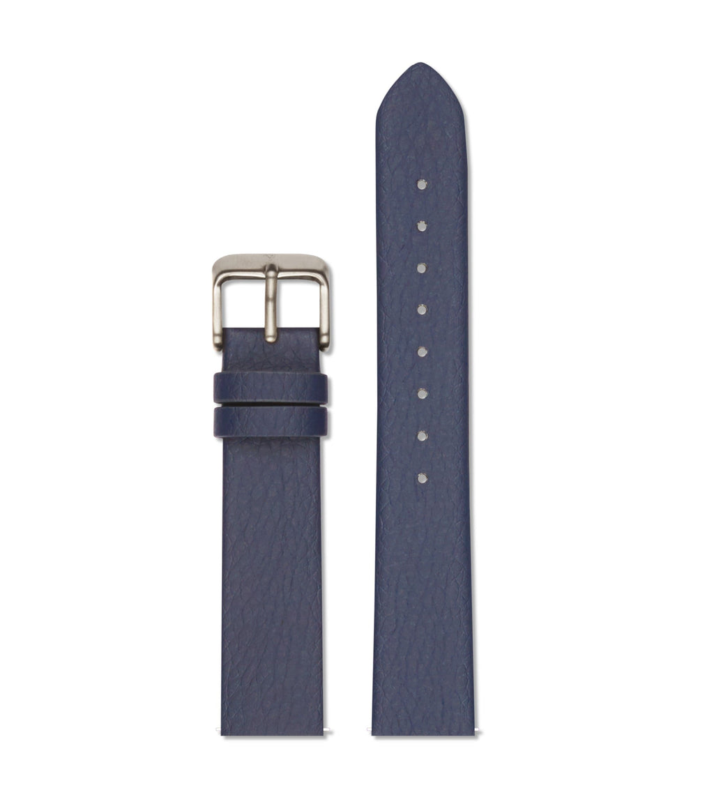 Navy with brushed silver buckle | 18mm