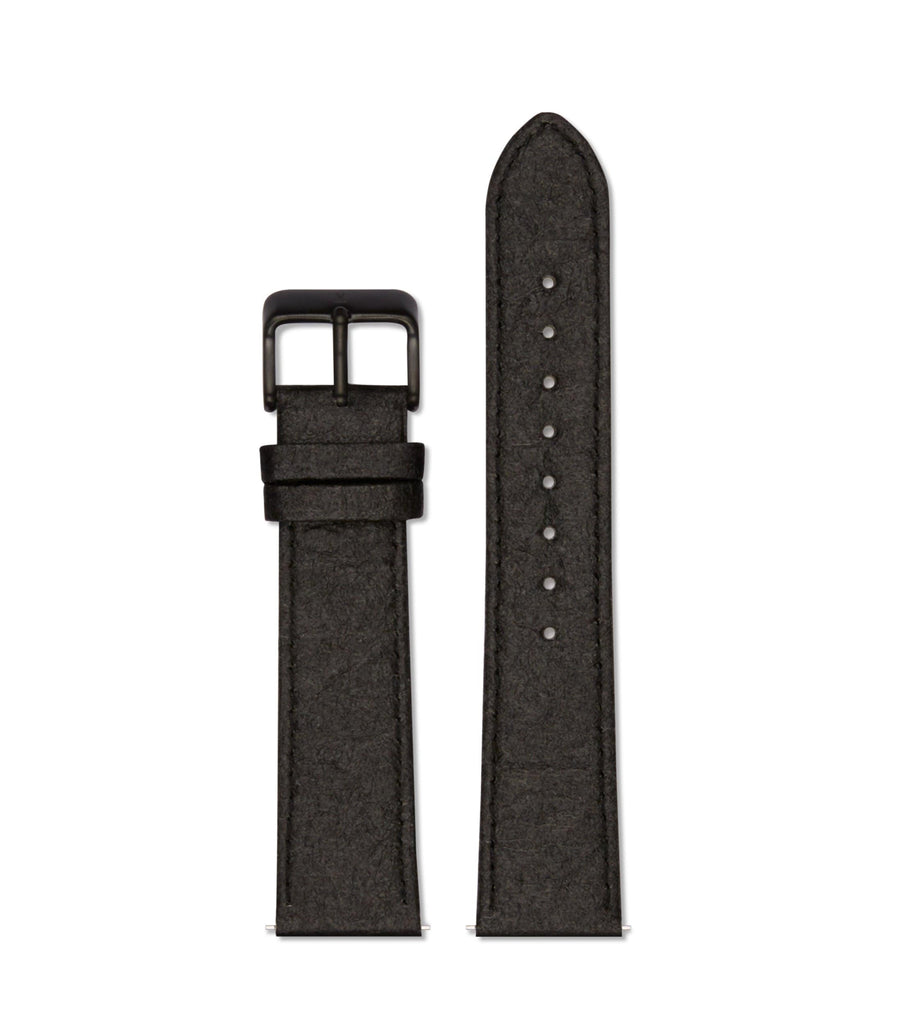 Piñatex Black with brushed black buckle | 20mm