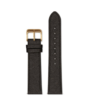 Piñatex Black with brushed gold buckle | 20mm