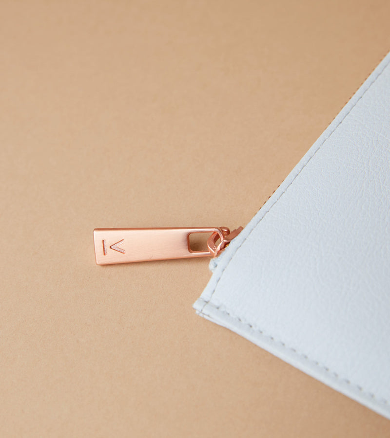 Light Grey & Rose Gold Pouch | Classic Essentials