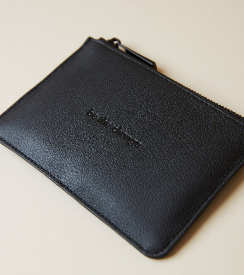 All Black Card Pouch | Classic Essentials