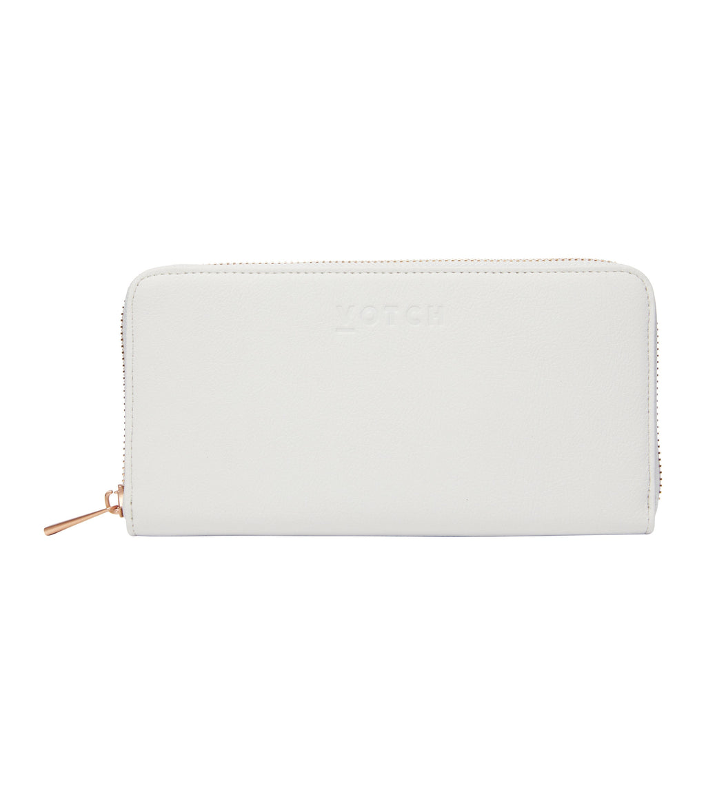 Light Grey & Rose Gold Purse | Classic Essentials