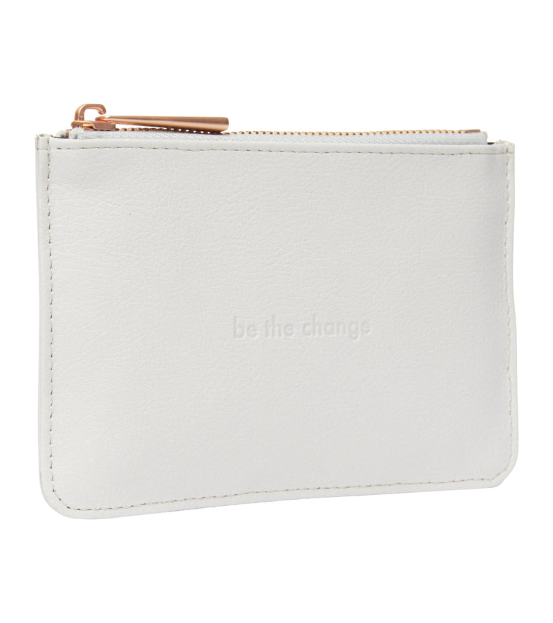 Light Grey & Rose Gold Card Pouch | Classic Essentials