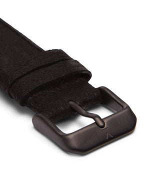 Piñatex Black with brushed black buckle | 18mm