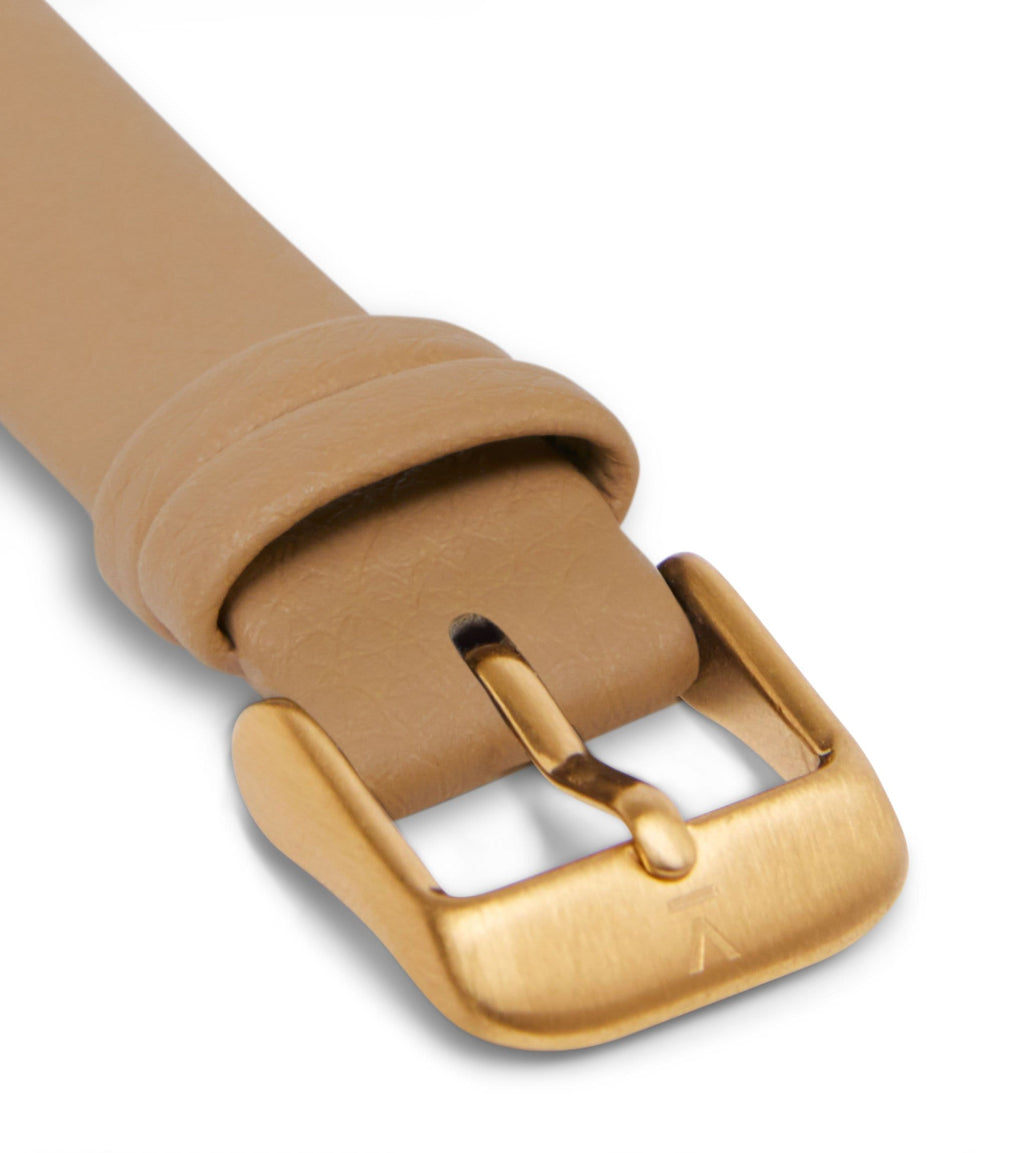 Tan with brushed gold buckle | 16mm