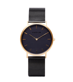 Gold & Black with Black | Mesh Classic
