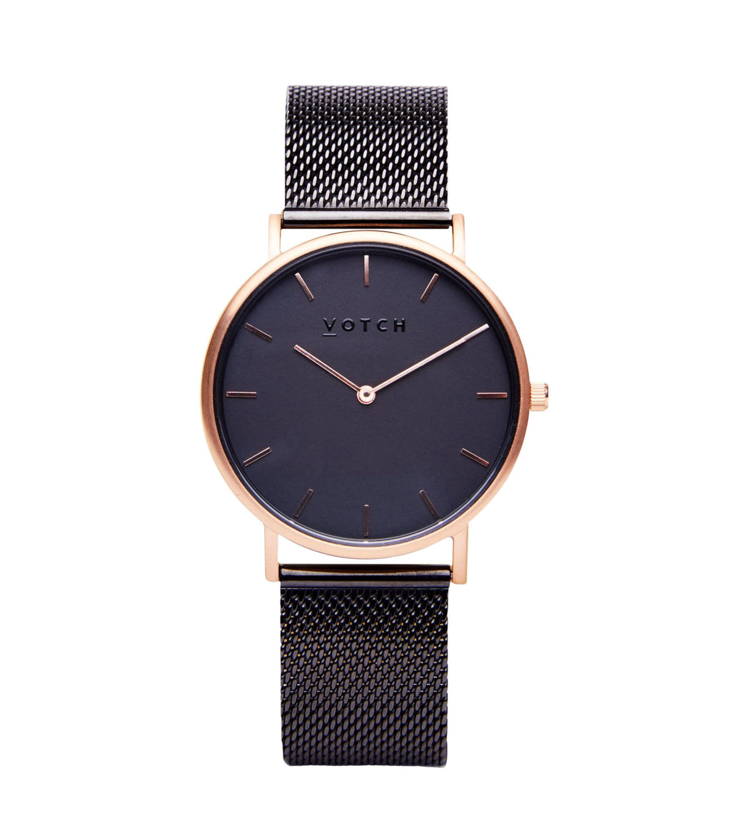 Rose Gold & Black with Black | Mesh Classic