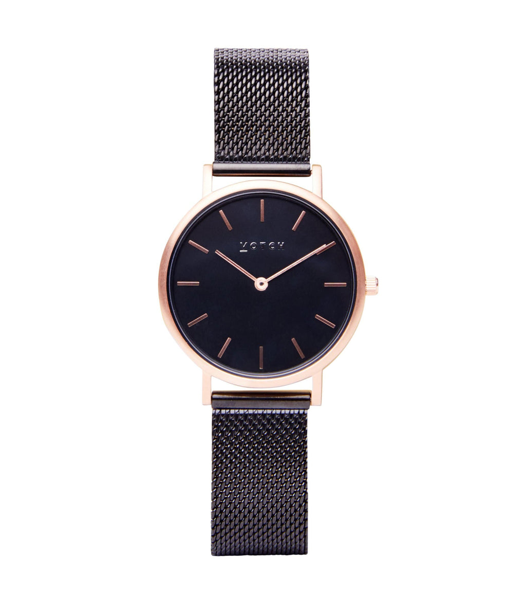 Rose Gold & Black with Black | Mesh Petite