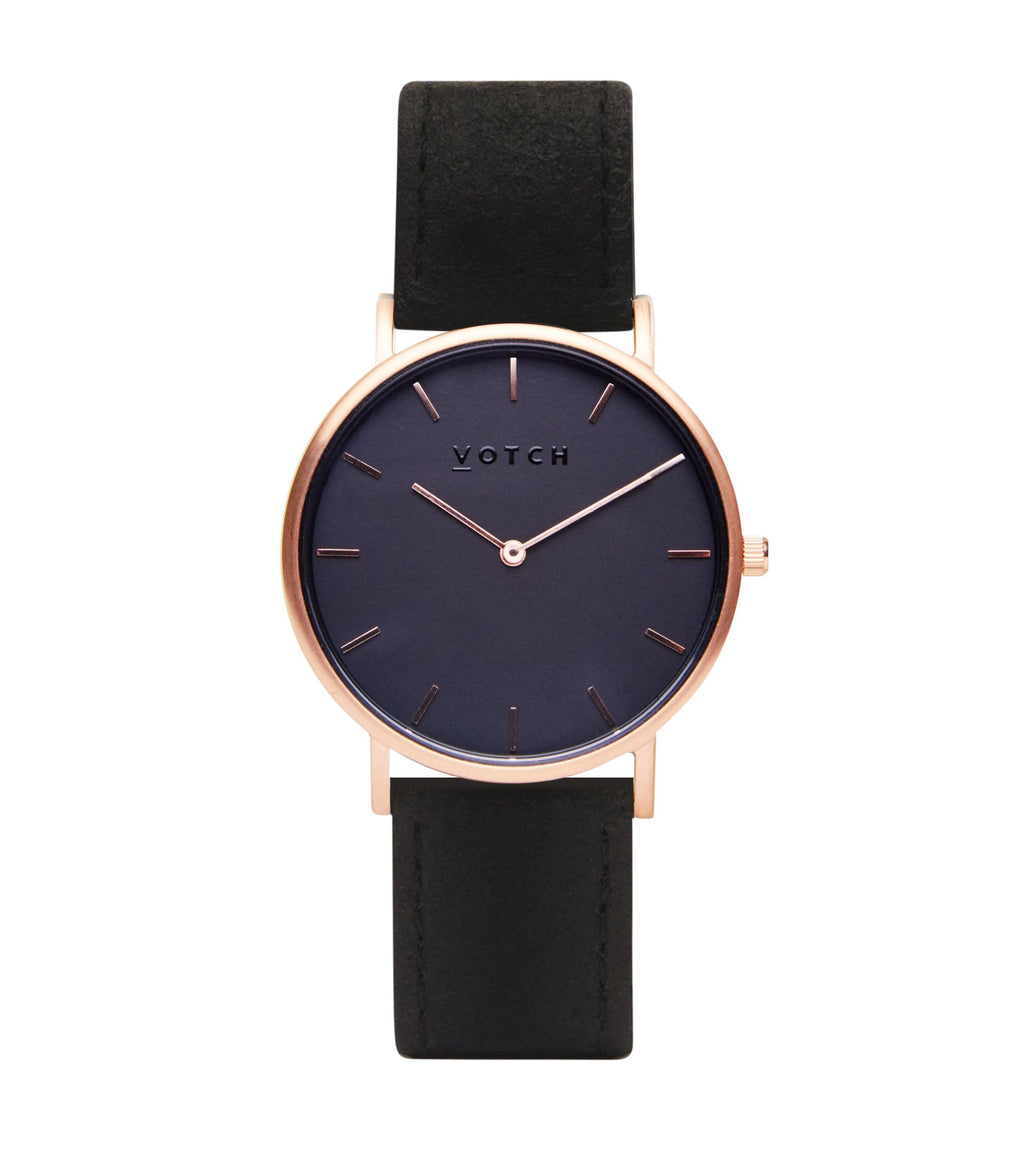 Rose Gold & Piñatex With Black | Classic