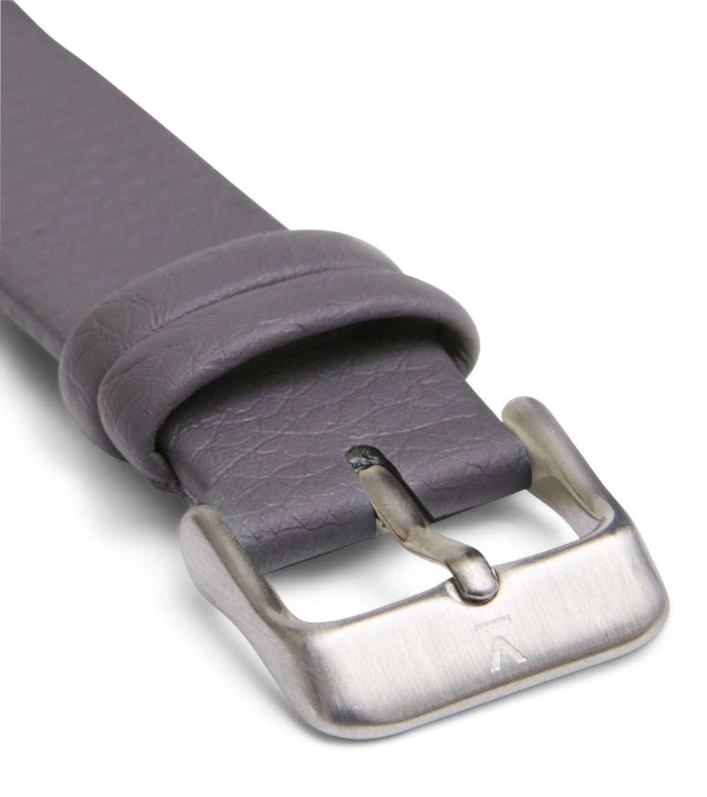 Slate grey with brushed silver buckle | 18mm