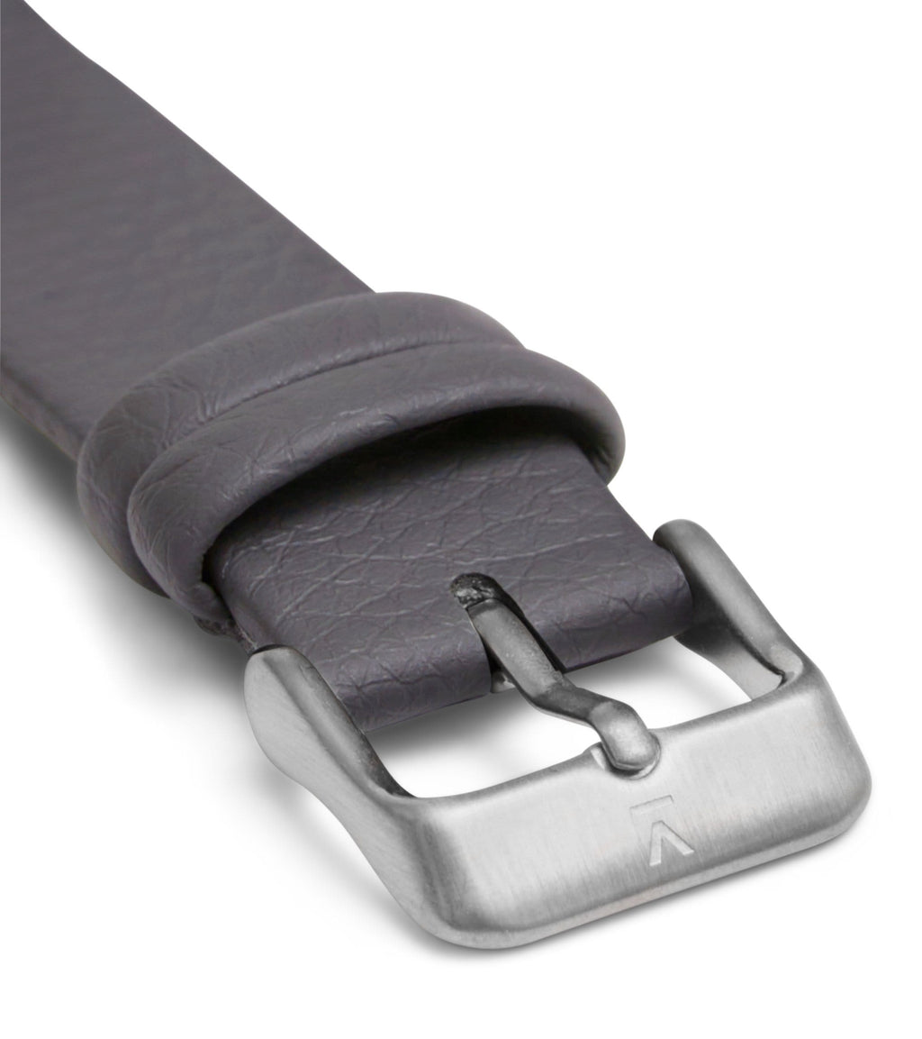 Slate Grey with brushed silver buckle | 20mm