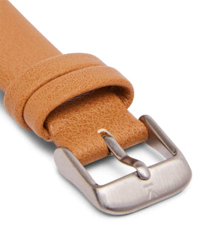 Tan with brushed silver buckle | 16mm