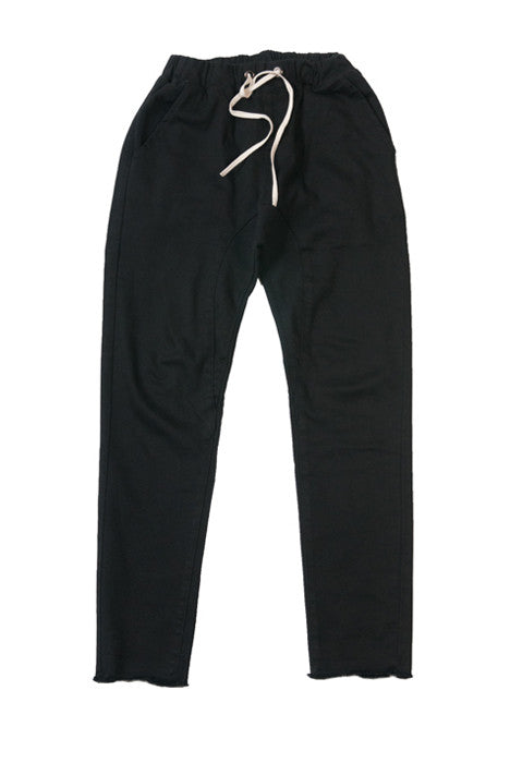 :DOK FACE Draw String Black Denim Joggers - Denim Jeans - denimkratos