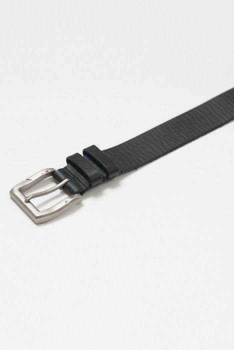 Double Down Black Leather Belt - Belts - denimkratos