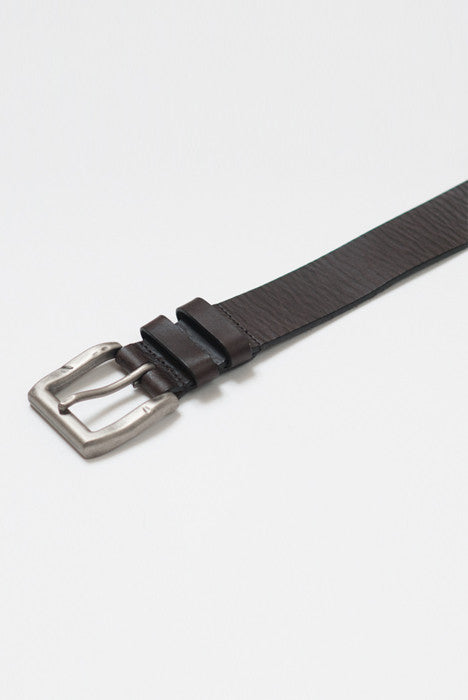 Double Down Brown Leather Belt - Belts - denimkratos