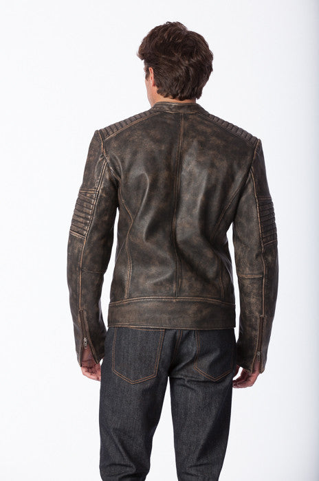 Dasaki Moto Leather Jacket - Leather Jacket - denimkratos